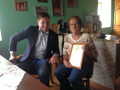 Foto zu Meldung: Zum 80. Geburtstag von Aloisia Köhler