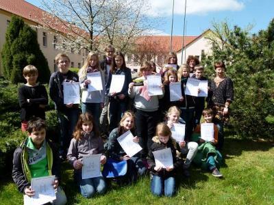 Vorschaubild zur Meldung: Englischolympiade der 5. und 6. Klassen in Nennhausen