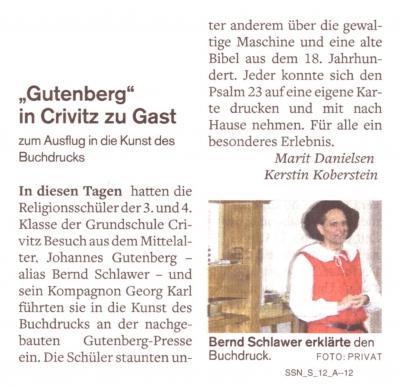 Foto zur Meldung: Gutenberg und die Kunst des Druckens