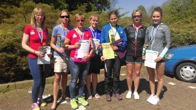 Foto zu Meldung: Medaillenflut für Laager Damen bei den Landesmeisterschaften im Halbmarathon.