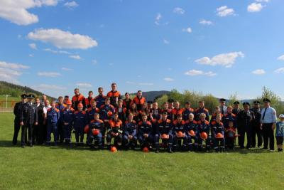 Foto zur Meldung: Feuerwehr-Jugend freute sich über bestandene Leistungsprüfung