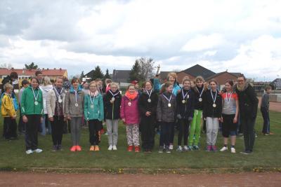 Foto zur Meldung: Jugend trainiert LA WK IV in Lübbenau