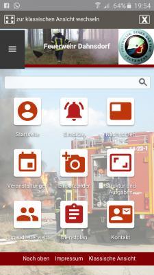 Foto zur Meldung: Homepage mit mobiler Ansicht