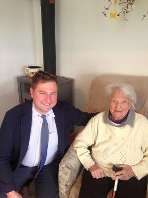 Foto zu Meldung: Theresia Krause aus dem Sauerland feierte ihren 95. Geburtstag