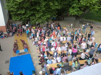 Foto zur Meldung: Englischprojekt mit anschließendem Schulfest