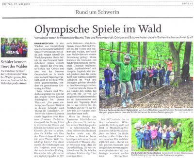 Foto zur Meldung: Waldolympiade 2016 am Forsthaus Bahlenhüschen