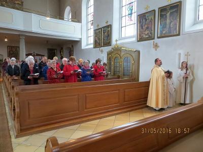 Foto zur Meldung: Letzte Maiandacht in der Pfarrkirche St. Georg