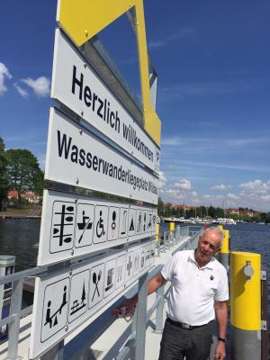 Vorschaubild zur Meldung: Wasserwanderrastplatz Wildau heißt seine Gäste willkommen!