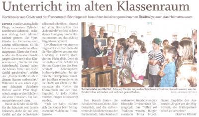 Foto zur Meldung: Besuch aus Bönningstedt