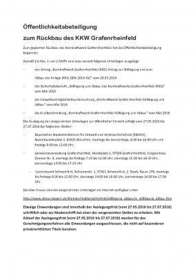 Vorschaubild zur Meldung: Öffentlichkeits-beteiligung - Rückbau Kernkraftwerk Grafenrheinfeld