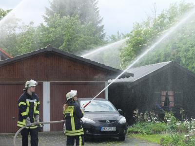 Vorschaubild zur Meldung: Alarmübung der FF Roßbach zum Tag der offenen Tür