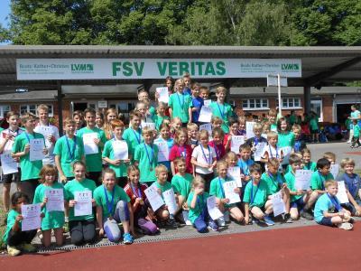 Foto zur Meldung: Erstes gemeinsames Sportfest der Waldschule Breese und der Elbtalgrundschule Bad Wilsnack war ein voller Erfolg
