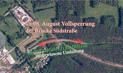 Foto zur Meldung: Neubau der Brücke L60 über die DB nach Hennersdorf