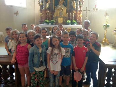Foto zur Meldung: Auf Entdeckertour in der Pfarrkirche
