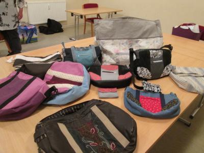 Foto zur Meldung: OKR - Tolle Taschen genäht