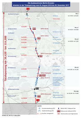 Foto zur Meldung: Informationsseite zum DB-Bauprojekt der Bahnstrecke Berlin-Dresden rund um Doberlug-kirchhain