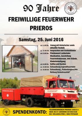Foto zur Meldung: 90 Jahre Freiwillige Feuerwehr Prieros