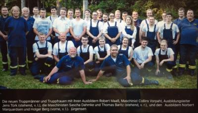 Foto zur Meldung: 26 neue Truppmänner für die Wehren im Amt Schafflund