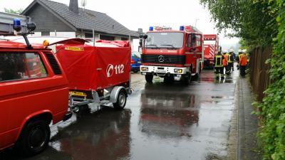 Foto zur Meldung: Nach Starkregen Überflutungen - Feldwege gesperrt - Dank an Einsatzkräfte