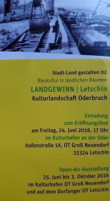 """Foto zur Meldung: Ausstellung """"Landgewinn"""" in Letschin eröffnet"""