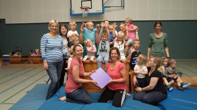 Foto zur Meldung: Eltern- Kind -Turnen beim TuS Elsdorf  unter neuer Leitung