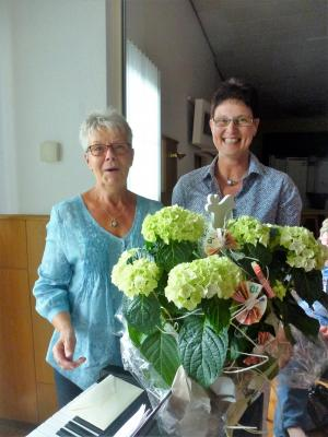 Foto zur Meldung: Frauenchor überbrachte Glückwünsche zum 70. Geburtstag