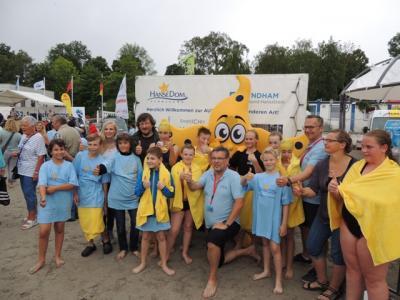 Foto zur Meldung: 5c am Start beim 16. Kindersundschwimmen