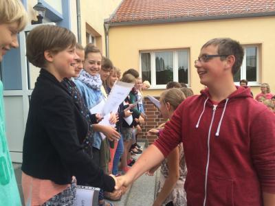 Foto zu Meldung: Die neuen Streitschlichter an unserer Schule