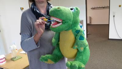 Foto zur Meldung: Zähneputzen mit Kroki