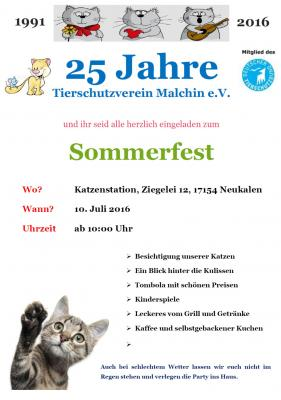 Foto zur Meldung: 25 Jahre Tierschutzverein Malchin e.V.
