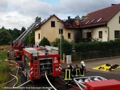 Foto zur Meldung: Brandeinsatz in Bad Salzungen