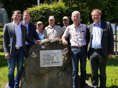 Foto zur Meldung: Landrat Reuter in Bühren
