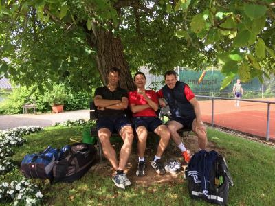 Foto zur Meldung: Tennis (Herren 40) - Starke 6:3 Vorstellung gegen Ilsfeld