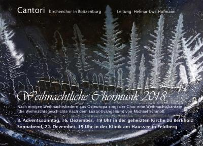 Vorschaubild zur Meldung: 16. Dezember: Weihnachtsmusik in der Kirche Berkholz