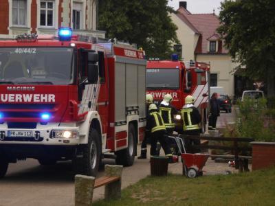 Foto zur Meldung: Alarm mit Feuerwehr