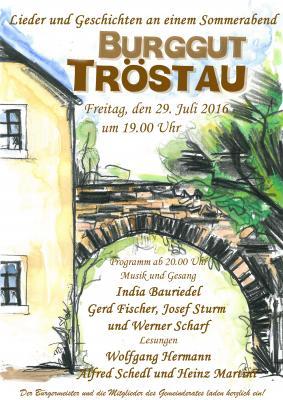 Vorschaubild zur Meldung: Romantischen Sommerabend im Burggut Tröstau