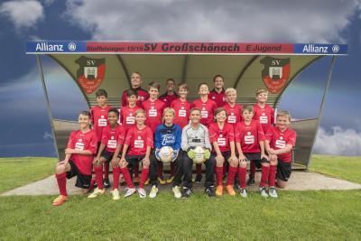 Foto zur Meldung: E-Jugend der SG Großschönach feiert Meisterschaft