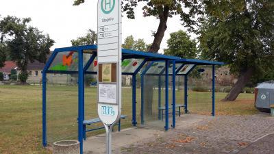 Foto zu Meldung: Verlegung der Bushaltestelle in Stegelitz