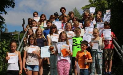 Foto zur Meldung: Die Grundschule ehrte die besten Sportler – Acht Ehrenkunden vergeben