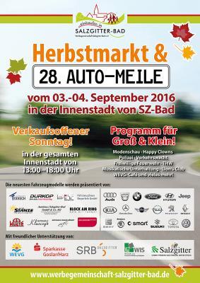 28. Auto-Meile und Herbstmarkt