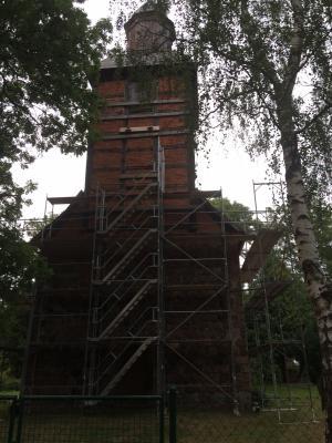 Foto zur Meldung: Bauarbeiten am Tramper Turm beginnen