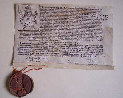 Ablassbrief von 1517, Sammlung: Jüterboger Museum