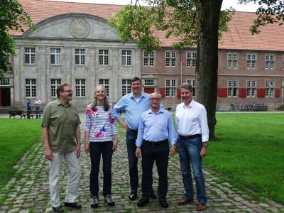 Natur-Netz Vorstand, v.l. Franz Hüsing, Katrin Flasche, Karsten Behr, Rainer Böttcher, Hartmut Schrap