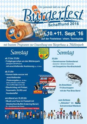 Foto zur Meldung: Großes Bürgerfest in Schafflund am 10. & 11.09.