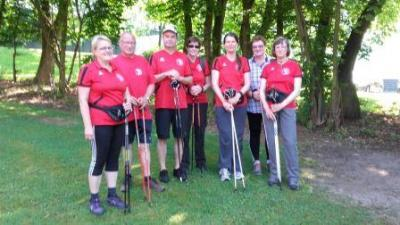 Foto zur Meldung: Nordic Walking Gruppe beim Kreis-Walking Tag des Turnkreises mit dabei!