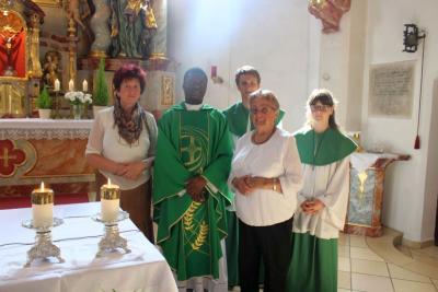 Foto zur Meldung: Verabschiedung und Dankeschön an Kaplan Francis Kwabena Gyabaah