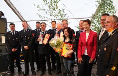 Foto zur Meldung: Festkommers aus Anlaß des 140jährigen Bestehens der Feuerwehr