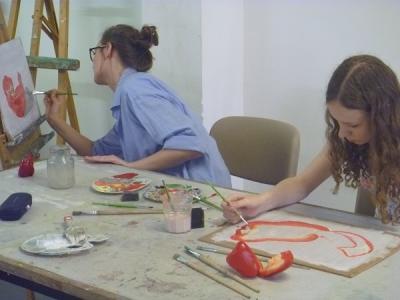 Foto zur Meldung: Abschlussausstellung der Ateliertage, Kloster Lehnin