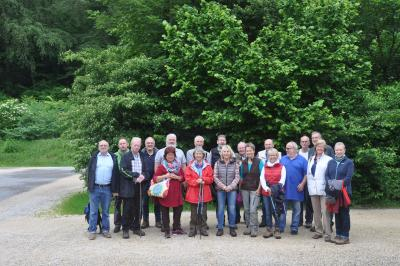 Die Naturparkführer des Naturparks Hessischer Spessart auf Entdeckungstour rund um das  Biospährengebiet Schwäbische Alb.