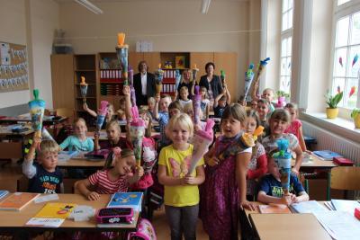 Foto zur Meldung: Begrüßung der Schulanfänger